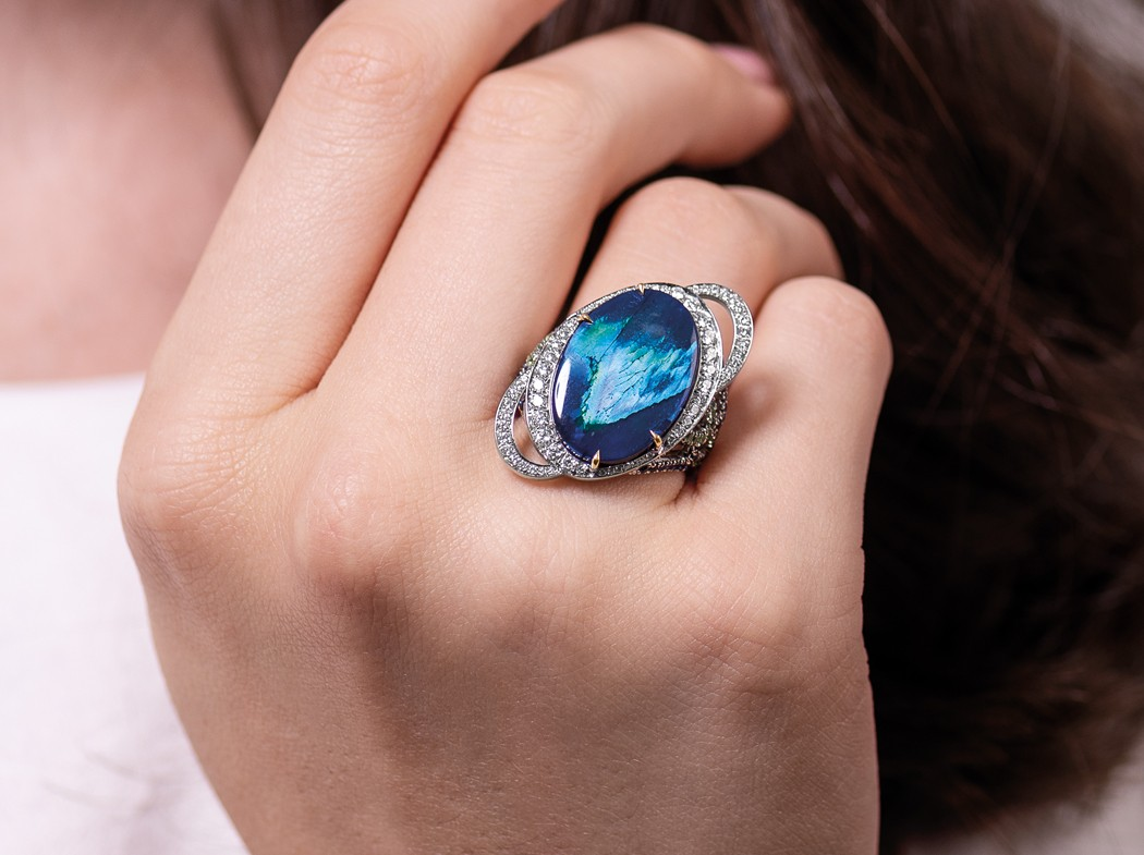 A Celestial Gemstone: The Black Opal