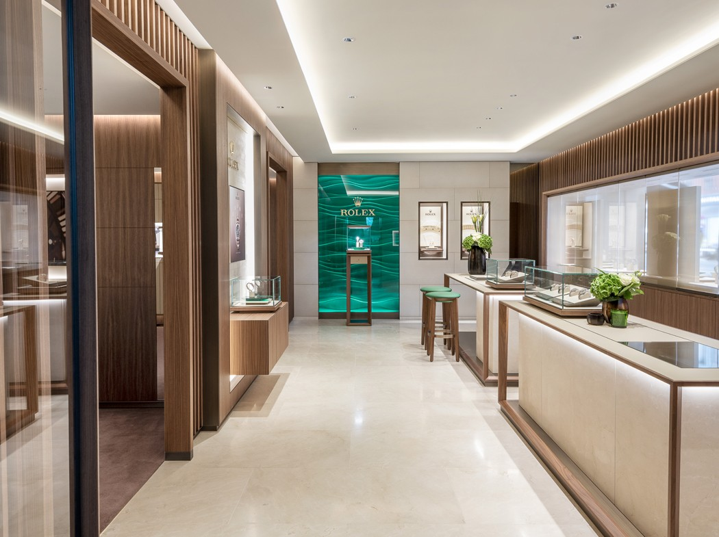 Our newly designed Rolex Showroom at Prestons Wilmslow