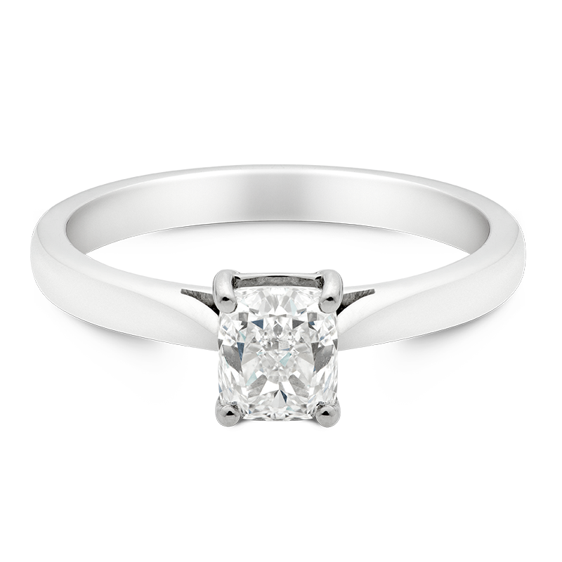 Cushion Cut Solitaire, Platinum