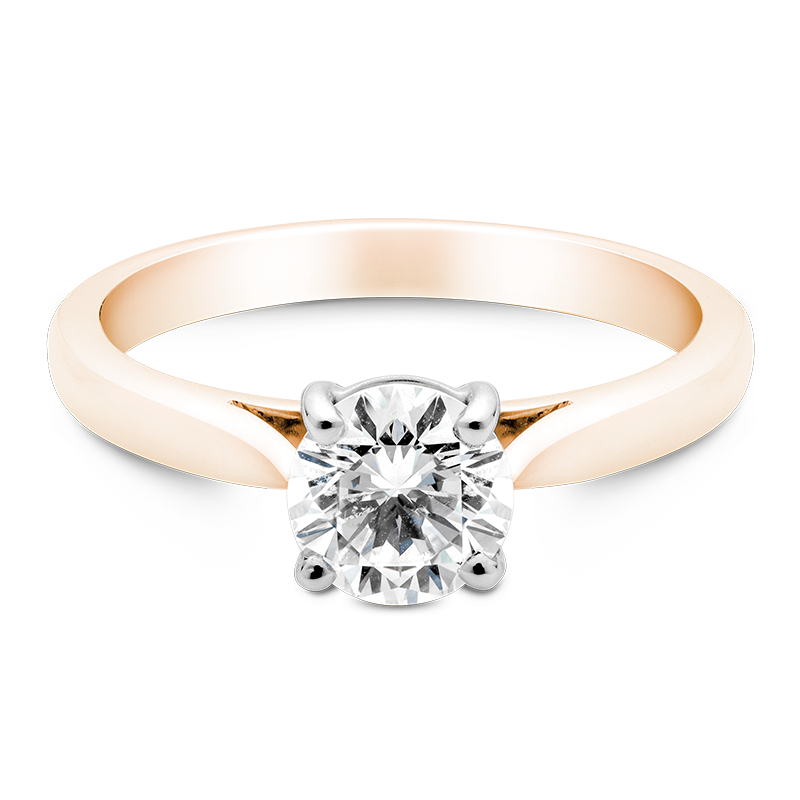 Round Brilliant Cut Solitaire, 18ct Rose Gold