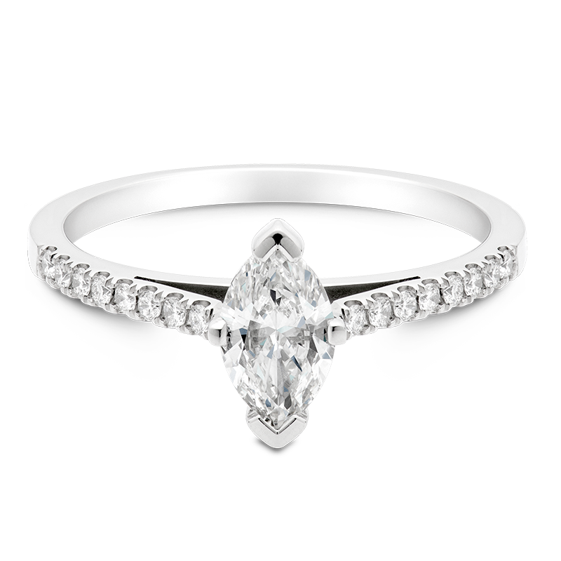 Marquise Set with Diamonds, Platinum