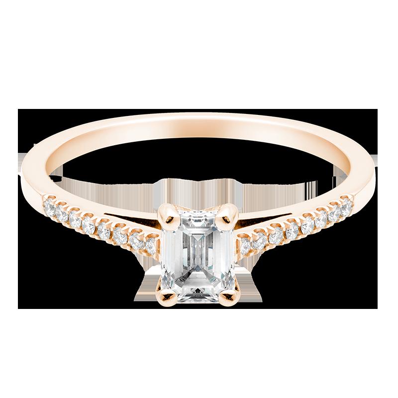 Emerald Set with Diamonds, 18ct Rose Gold