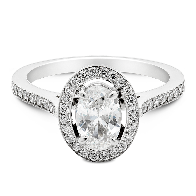 Oval Cut Separated Halo, 18ct White Gold