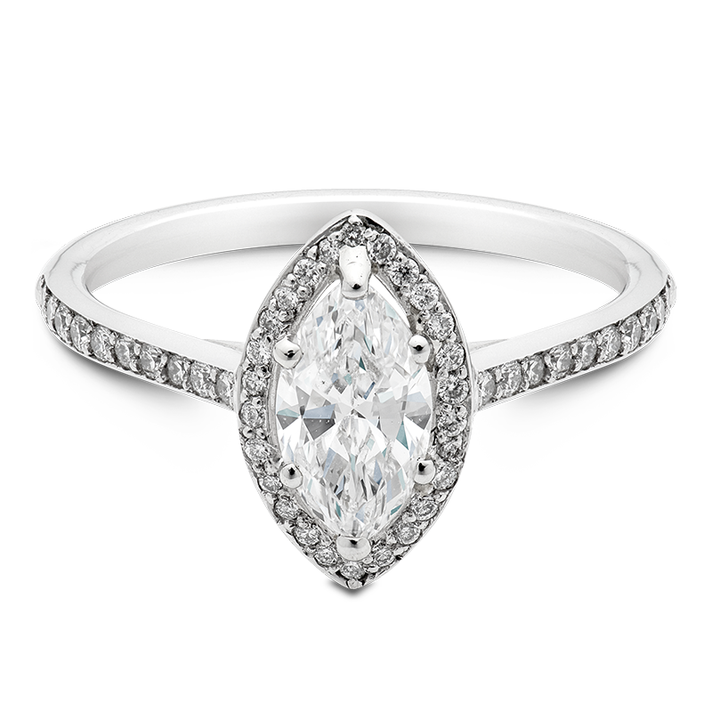 Marquise Cut Halo, Platinum