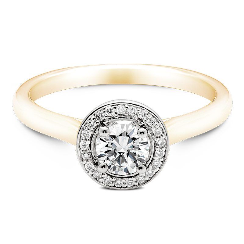 Round Brilliant Cluster, 18ct Yellow Gold