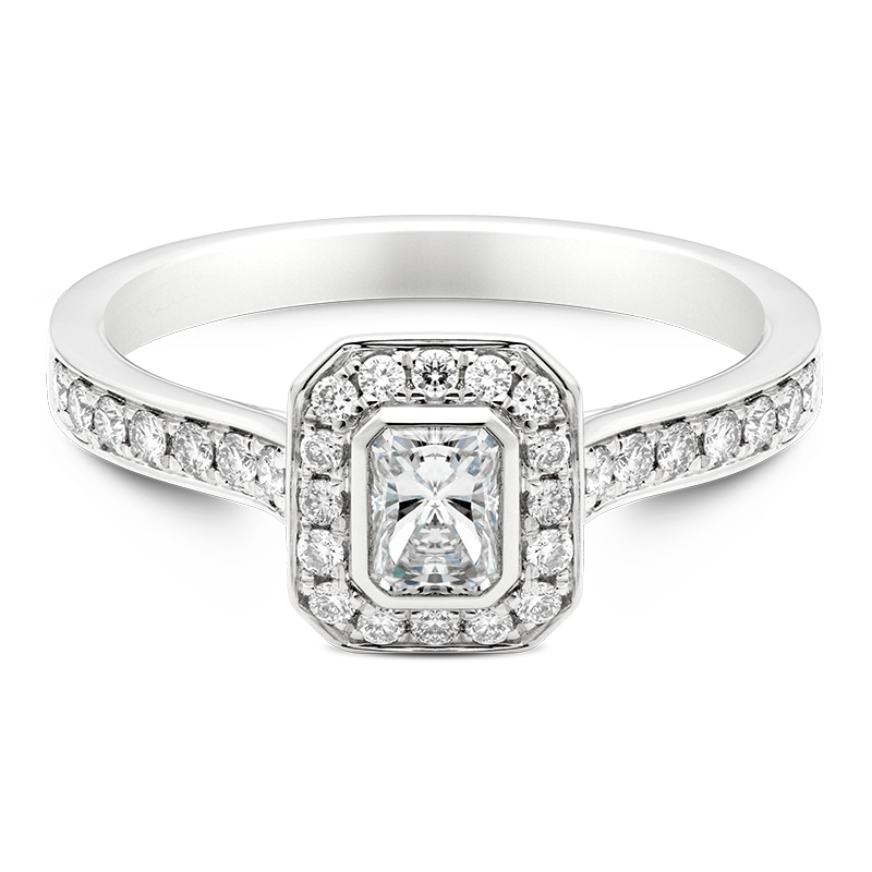 Radiant Cut Cluster, 18ct White Gold