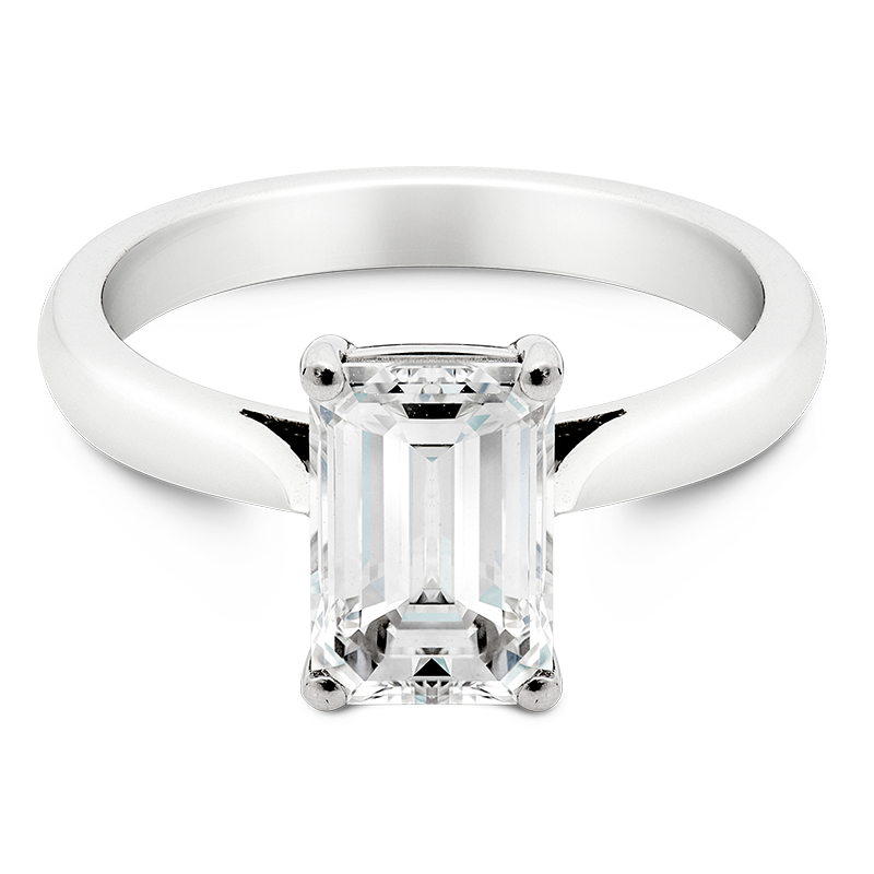 2.06ct Emerald Cut Diamond Solitaire, Masterpiece
