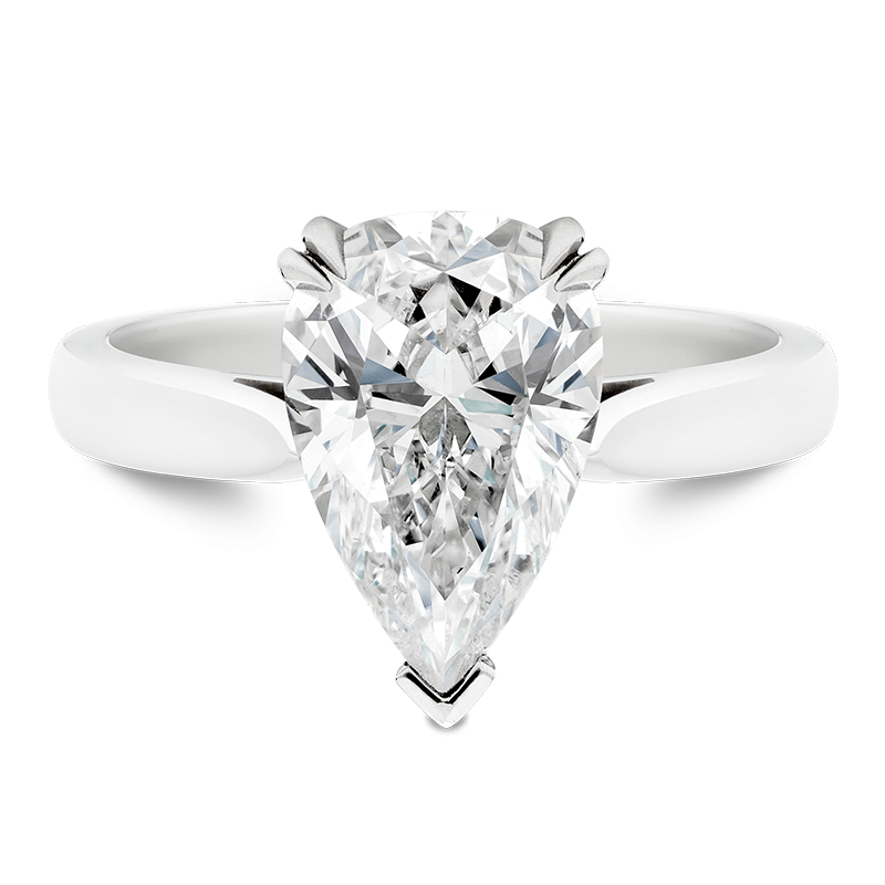 3.04ct Pear Cut Solitaire Ring, Masterpiece