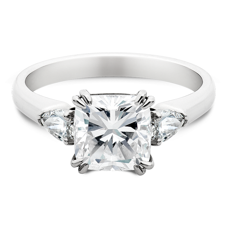 1.50ct Cushion & Pear Cut Trilogy, Masterpiece