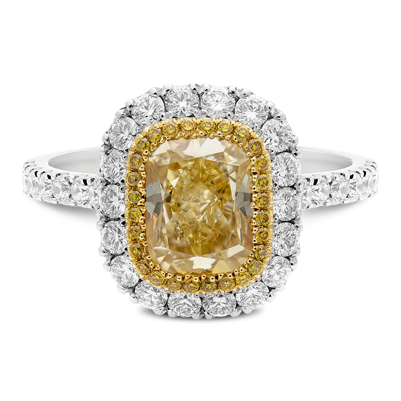 2.78ct Cushion Cut Fancy Yellow Diamond, Masterpiece
