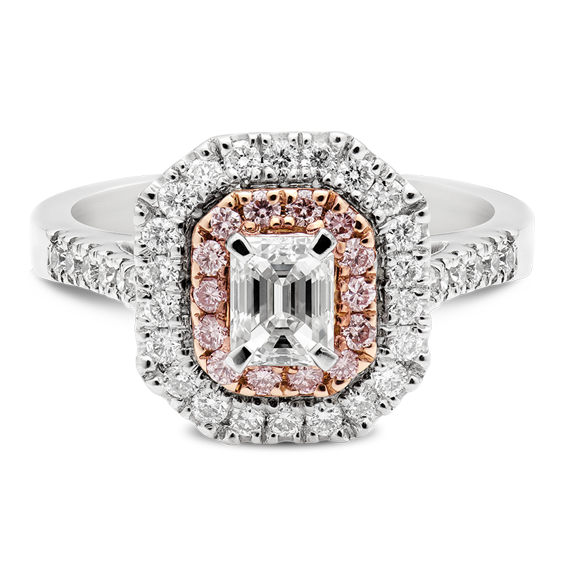 1.07ct Pink & White Diamond Cluster Ring, Masterpiece
