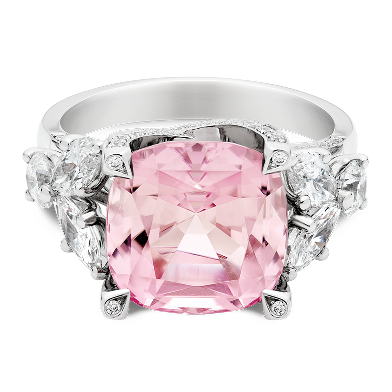 8.12ct Cushion Cut Pink Tourmaline, Masterpiece