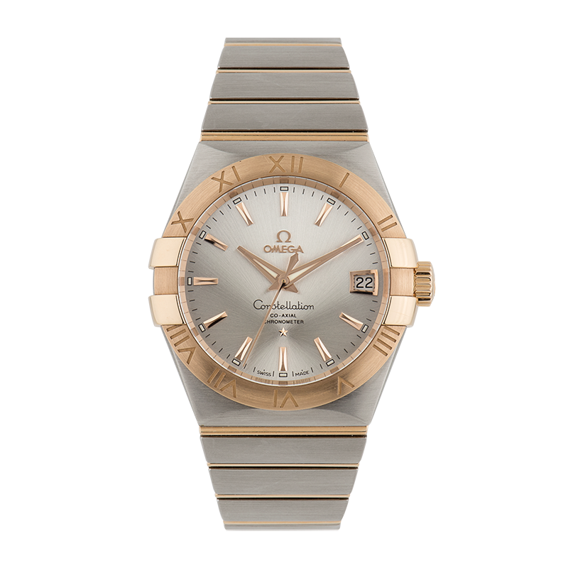 Omega, Constellation, Steel and 18ct Rose Gold