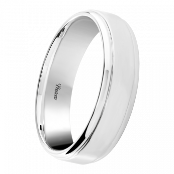 Medium Classic Court, Pattern Detail, 18ct White Gold