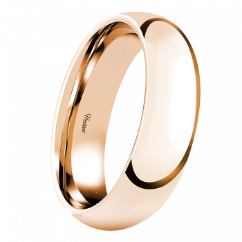 Mediumweight Classic Court, 18ct Rose Gold