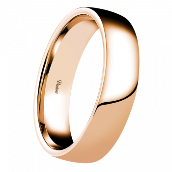 Light-Medium Contemporary Court, 18ct Rose Gold