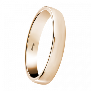 Mediumweight Contemporary Court, 18ct Rose Gold