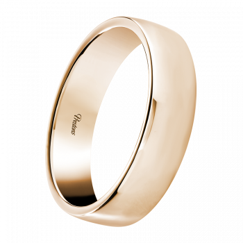 Medium weight Contemporary Court, 18ct Rose Gold