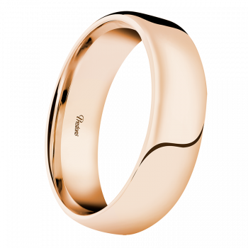 Light-Medium Roll-Top Flat, 18ct Rose Gold