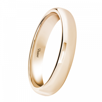Medium weight Roll-Top Flat, 18ct Rose Gold