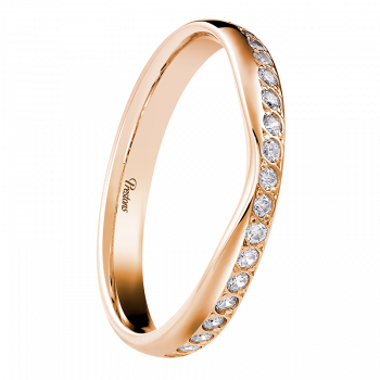 Mediumweight Classic Court, Diamond Set, 18ct Rose Gold