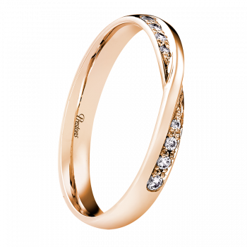 Twist Set, Diamond Set, 18ct Rose Gold