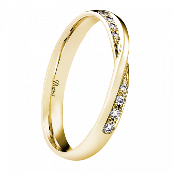 Twist Set, Diamond Set, 18ct Yellow Gold