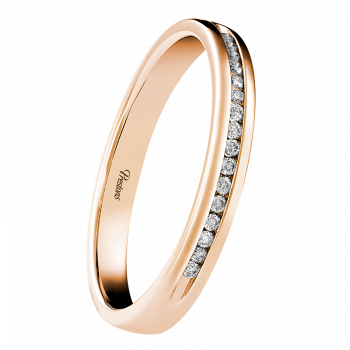 Light-Medium Classic Court, Diamond Set, 18ct Rose Gold