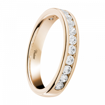 Contemporary Court, Diamond Set, 18ct Rose Gold