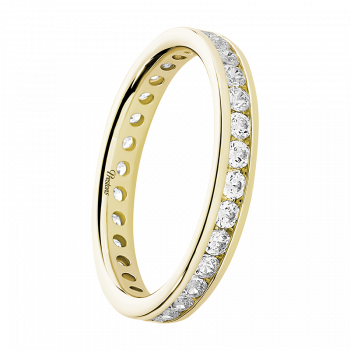 Contemporary Court, Diamond Set, 18ct Yellow Gold