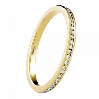 Mediumweight Classic Court, Diamond Set, 18ct Yellow Gold