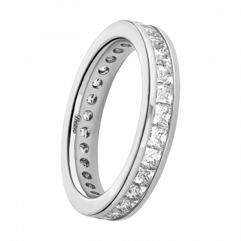 Rolled-Edge, Diamond Set, 18ct White Gold