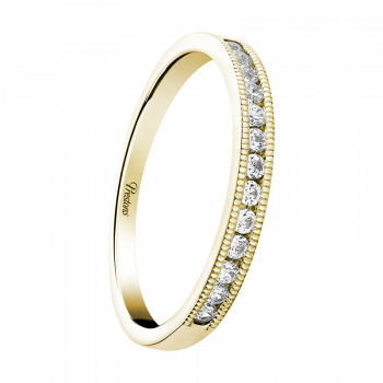 Medium weight Classic Court, Diamond Set, 18ct Yellow Gold