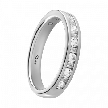 Contemporary Court, Diamond Set, 18ct White Gold