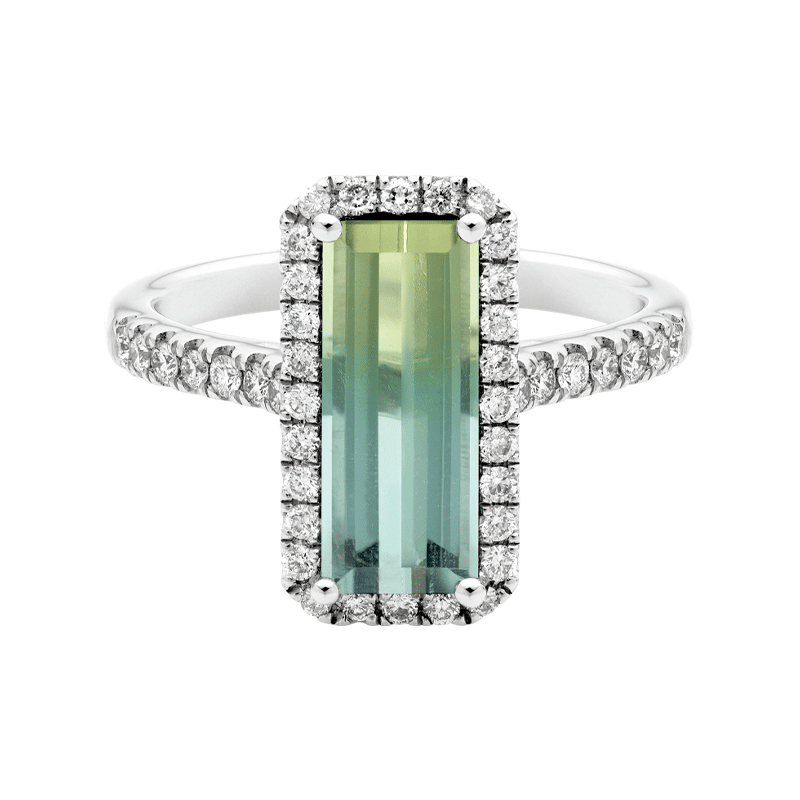 Vibrant Bi-Colour Tourmaline Dress Ring