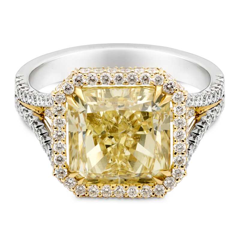 5.03ct Natural Fancy Yellow Cushion Cut, Masterpiece