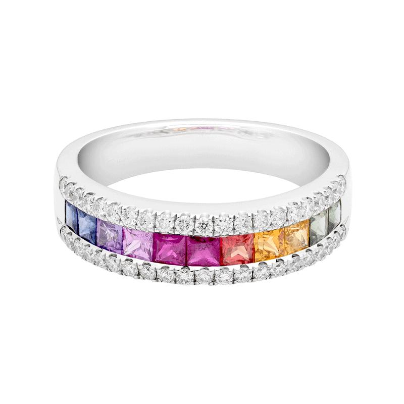 Rainbow Sapphire Dress Ring