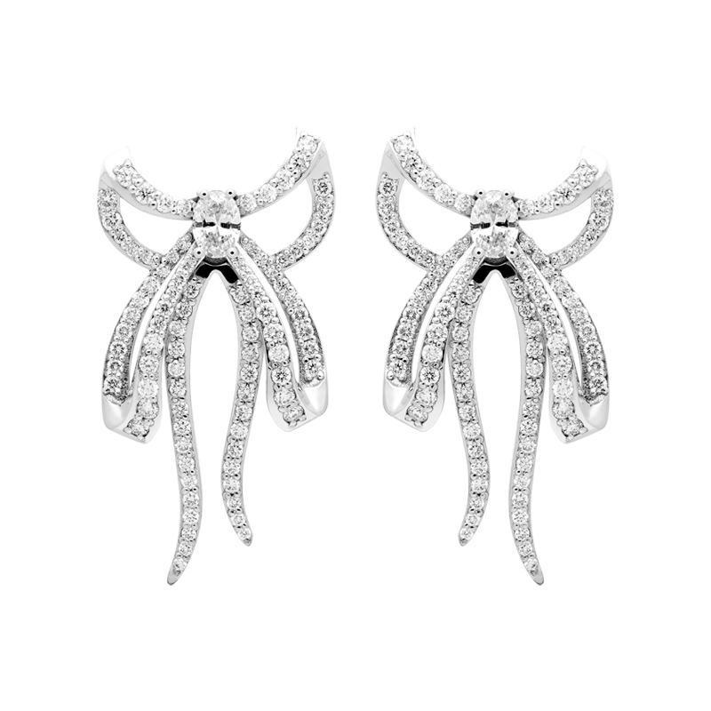 Diamond Ear Ribbons