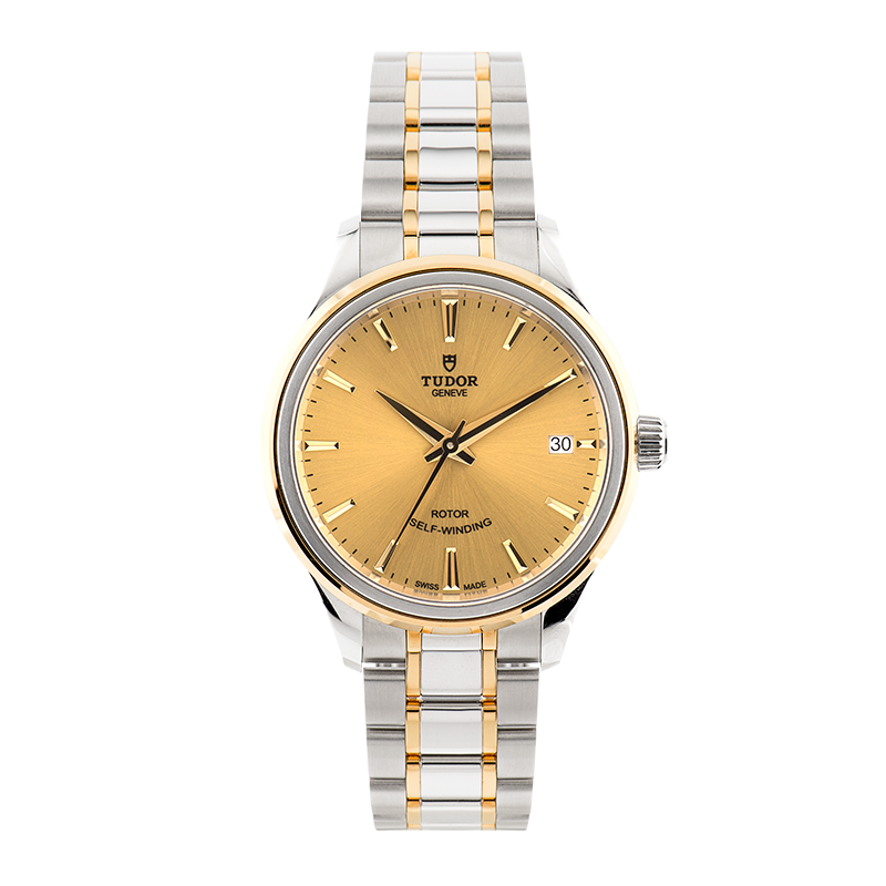 TUDOR, Style Date 34, Stainless Steel and Yellow Gold