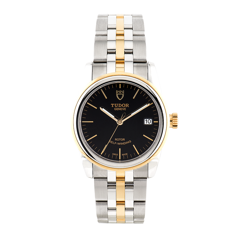 Tudor, Glamour Date 36mm, Steel and Yellow Gold