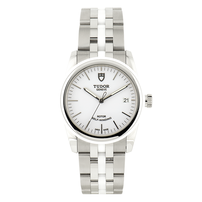 TUDOR, Glamour Date 36, Stainless Steel and Ceramic