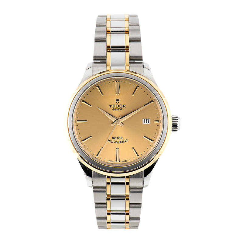 Tudor, Style Date 38mm, Steel and Yellow Gold