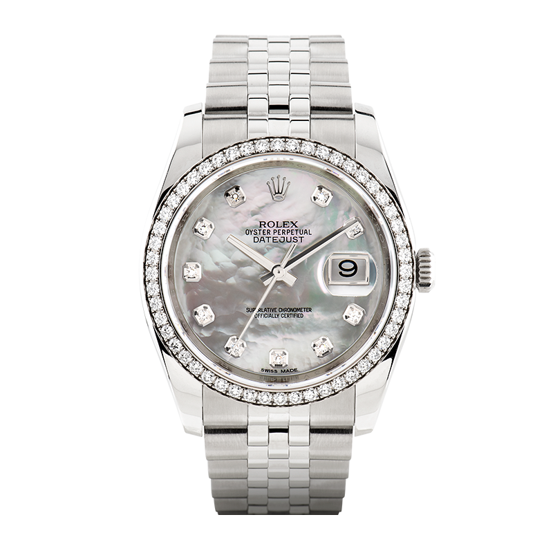 Rolex, Datejust 36mm, White Rolesor