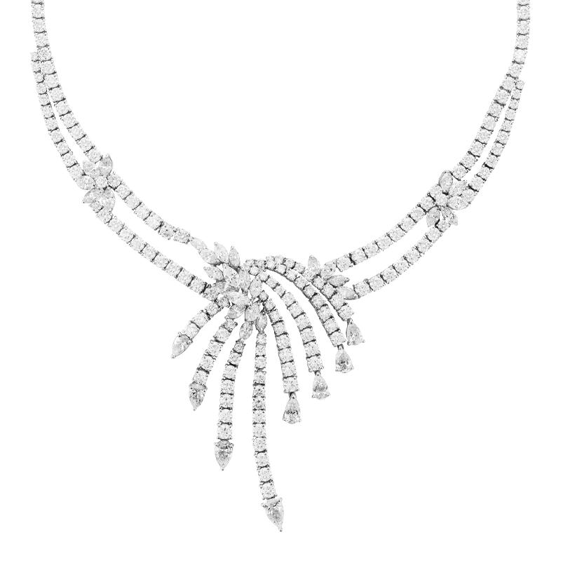 An Art Deco Inspired Mixed Cut Diamond Collar