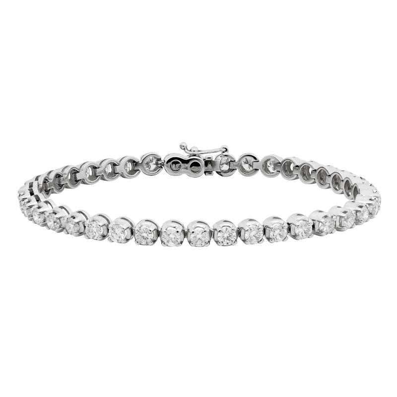 Classic Diamond Tennis Bracelet, 6.09ct