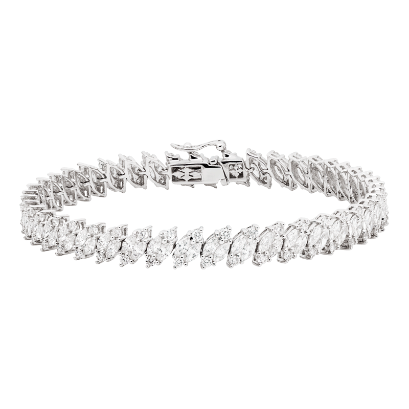 Marquise Cut Diamond Tennis Bracelet