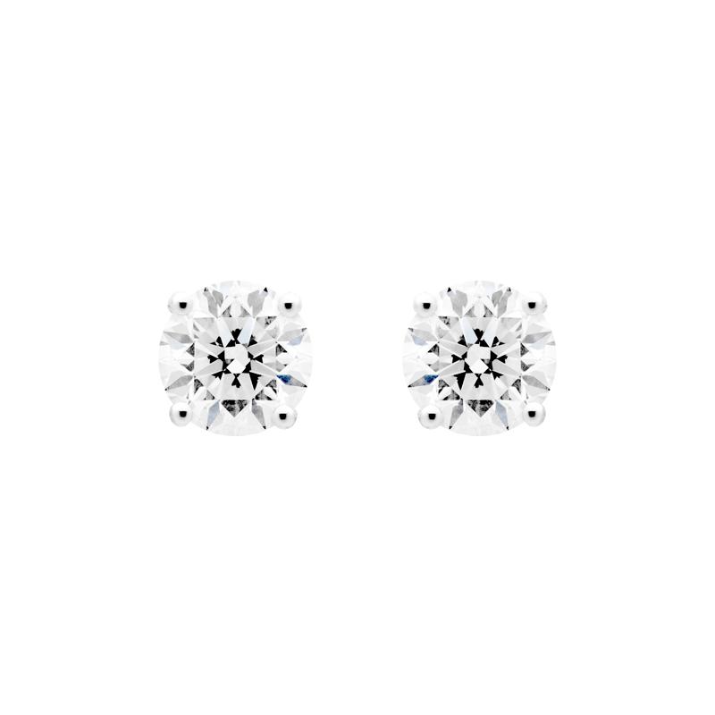 Round Brilliant Diamond Studs, 1.60ct