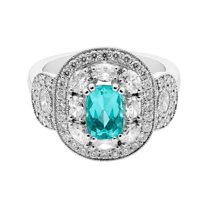 The Splendour of Paraiba Vintage Cocktail Ring