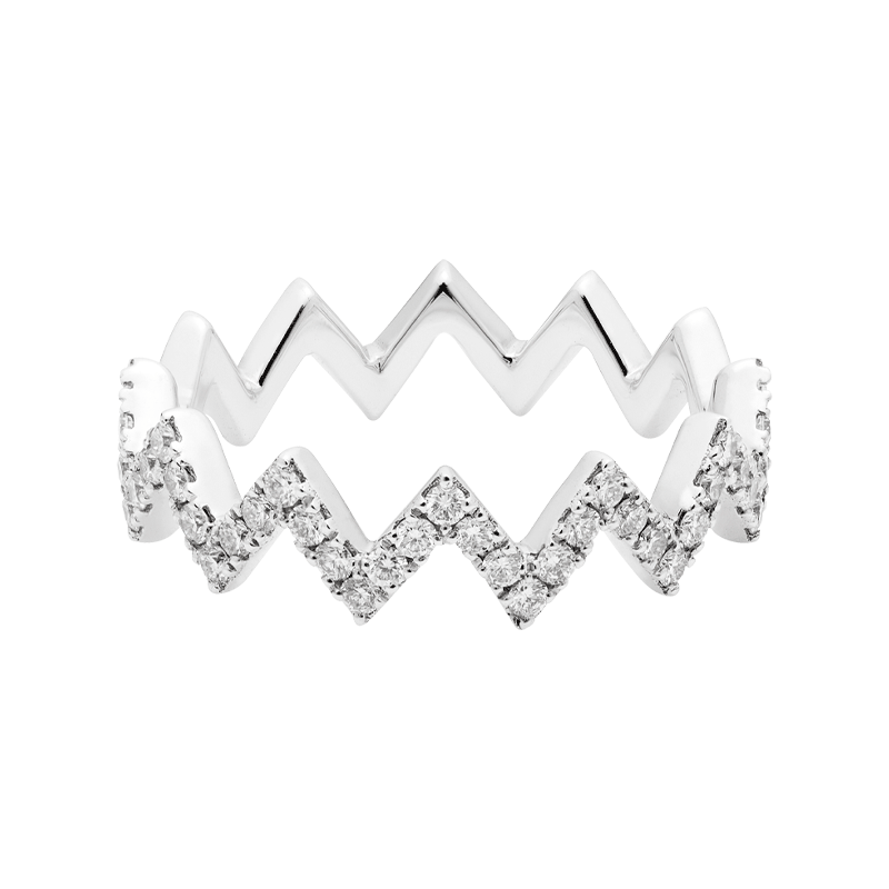 A Modern & Contemporary Angled Stacking Ring