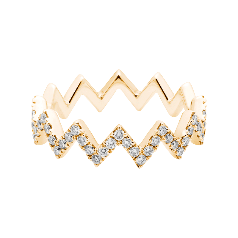 Modern & Contemporary Angled Stacking Ring